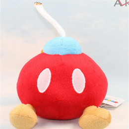 Bomb Toys Australia - Fashion Super Mario Bros BOB-OMB BOMB Plush Doll Toy Action Game 2 Colors Animation Gift DHL Free