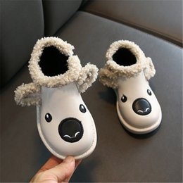 Dog shoes sizes online shopping - Brand Baby Girls Boots Fur Warm Toddler Kids Snow Boots Winter Cute Dog Printed Baby Children Shoes Size