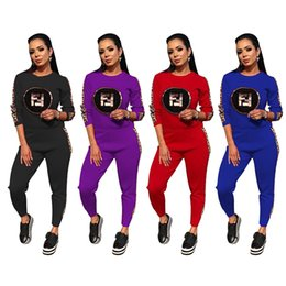Ladies Suit Pants Shirt NZ - New Fashion Designer Brand Tracksuit Spring Women Sweatshirts Trousers Sports Suits Casual Ladies Clothing Long Sleeve T-shirt Pants Sets