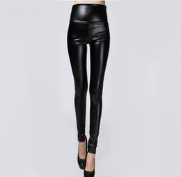 b5e5351663955 Hot Sale Autumn Winter Women Clothes Skinny PU Leather Pencil Leggings Sexy  Thin Fleece Trousers Ladies Slim Faux Leather Pants