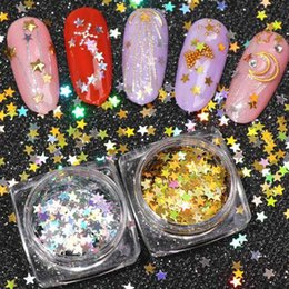 $enCountryForm.capitalKeyWord Australia - Fashion Mixed Color 1Box Five-pointed Star Nail Sequins Shiny Super Thin Easy To Paste Smooth Nail Art Glitter