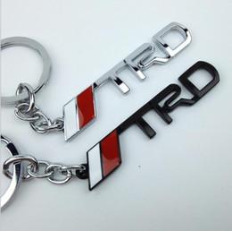 $enCountryForm.capitalKeyWord NZ - Black Silver 3D Car TRD Logo Emblem Badge Sticker Metal keychain