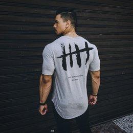 T Shirt Cotton Sport Fashion Australia - 2019 Gym Sport Running T-shirt Men Fashion Brand Tight T shirts Fitness Men Summer Short Sleeve Cotton Gym Training Clothing