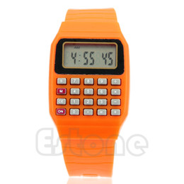 Multi calculator online shopping - New Fad Children Silicone Date Multi Purpose Kids Electronic Calculator Wrist Watch