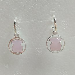 Rose quaRtz 925 steRling online shopping - Bear Jewelry Sterling Silver earrings Silver Camille Earrings With Rose Quartz Fits European Jewelry Style Gift