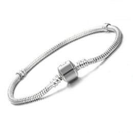 $enCountryForm.capitalKeyWord Australia - Vecalon Original 925 Solid Silver Charm Bracelets for Women Long 16-23cm Snake Bone Bracelets Wedding Jewelry