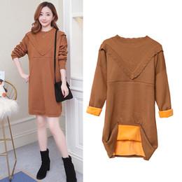 361864c6377ce Maternity Nursing Sweater Dress Plus Size Breastfeeding Knit Dresses for Pregnant  Women Pregnancy Autumn Winter Fashion Clothes