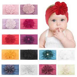 $enCountryForm.capitalKeyWord Canada - New flower nylon baby headbands soft newborn designer headband girls designer headbands kids head bands hair accessories for girls A5611