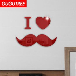 $enCountryForm.capitalKeyWord NZ - Decorate Home 3D i love cartoon mirror art wall sticker decoration Decals mural painting Removable Decor Wallpaper G-348