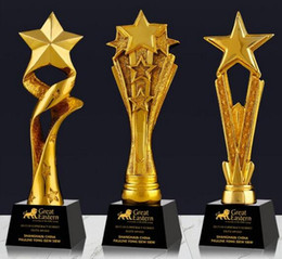 new world gold Canada - Beidou Star Officer Five-Star Glory Star Brilliant Gold-plated Resin small decoration trophy trophy crafts Free engraving World