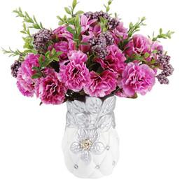 $enCountryForm.capitalKeyWord UK - 2019 Silk flower European 1 Bouquet Artificial Flower Fall Vivid Carnation Fake Leaf Wedding Home Party Decoration