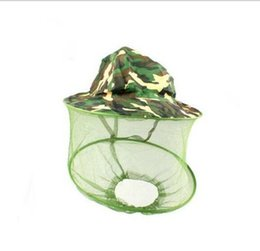 Wholesale Outdoor Camo Cap Sun Protection Fishing Hats Insect Bee Mosquito Resistance Bug Net Mesh Head Face Hat Practical