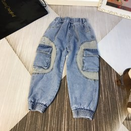 $enCountryForm.capitalKeyWord Australia - boys new designer jeans pants kids Autumn clothes washed denim fashion classic jeans size 110-160cm new best