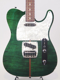 H Case Australia - Rare Prince HS Anderson guitar Madcat Mad Cat Tele Flame Maple Top Green Burst TL Electric Guitar+ Guitar Case Abalone Leopard Pickguard