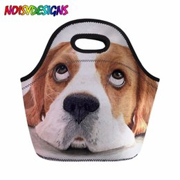 $enCountryForm.capitalKeyWord NZ - Beagle Dog Printed Insulated Lunch Bag for Kid Girls School Thermal Lunchbox Women Portable Picnic Storage Dropshipping