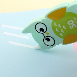 $enCountryForm.capitalKeyWord Australia - Kawaii Cute Owl Plastic Correction Tape Pen Ink Erase Tape School Office Supply Student Stationery Kids Gift