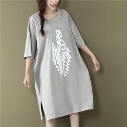 $enCountryForm.capitalKeyWord Australia - 2019 Summer Loose Women T-shirt Print O Neck Short Sleeve T-shirt White And Black Tops Plus Size Y19060601