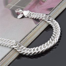 Sterling Silver Figaro Bracelet NZ - New Design 6MM 8MM 10MM 925 Sterling silver Figaro chain bracelet Fashion Men's Jewelry Top quality free shipping