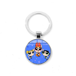 Dome Toys Australia - Cute Animation Cartoon The Girls Keychain Crystal Glass Dome Toy Key Ring Holder Kids Jewelry Birthday Party Gift