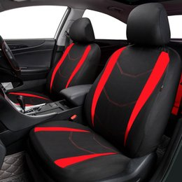 Blue Gray Car NZ - wholesale Car Covers Full Car Seat Cover Universal Auto Interior Accessories Gray Blue Red Car Seat Protector With 2mm Foam Covers