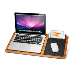 Built Computers Australia - iPad Premium Bamboo Lap Desk Laptop Stand Desk Board Slate 13 inch 15 inch for MacBook Laptop Notebook Computer Tablet Built-In Mouse pad