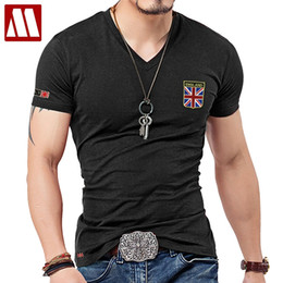 flag jack NZ - MYDBSH Brand Men T Shirts Cotton Union Jack Clothing Male Slim Fit Tee shirt Man England Flags T-Shirts Skateboard Swag Clothing Y200611
