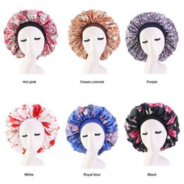 $enCountryForm.capitalKeyWord Australia - 6 Colors Satin Bonnet Cap Floral Printed Night Sleep Hat Muslim Style Caps Hats Hair Loss Cap Women Maternity Hat Chemotherapy Beanies