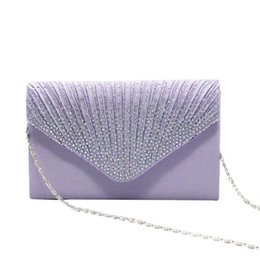 Multi Color Hand Bag Australia - Flash Rhinestone Evening Bags Luxurious Noble Solid Color Simple Envelope Package Annual Meeting Dinner Clutch Hand Bag Handbag