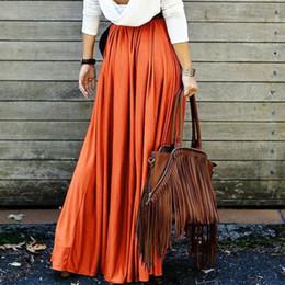 elegant wine 2019 - Women High Waist Pleat Elegant Skirt Wine Red Black Solid Color Long Skirts Women Faldas Saia Plus Size Ladies Jupe chea