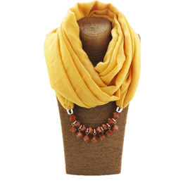 $enCountryForm.capitalKeyWord Australia - New ethnic style amber beads necklace ladies scarf headscarf jewelry pendant free shipping
