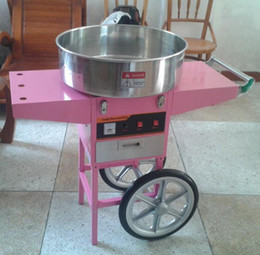 Wholesale cotton candies machine for sale – custom with CE v Electric Cotton candy machine with cart Commercial candy floss machine s cotton candy