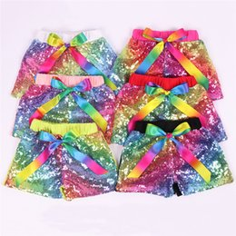 $enCountryForm.capitalKeyWord Australia - 2019 New Cotton Baby Girls Sequins Shorts Pants Casual Pants Fashion Infant Glitter Bling Dance Boutique Bow Princess Shorts Kids Clothes