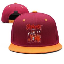 $enCountryForm.capitalKeyWord Australia - Slipknot Black Masks Design Snapback Flat Bill Brim Baseball Caps Hip-Hop Trucker Hat Adjustable Novelty