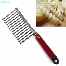 $enCountryForm.capitalKeyWord Australia - 300 pcs Potato Crinkle Wavy Edged Knife Stainless Steel Kitchen Gadget Vegetable Fruit Cutting Slicers