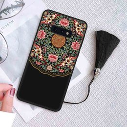 Court Cases Australia - New Fashion Retro Shockproof Phone Case for Samsung S10 S10 plus S10e Chinese Court Style Protective Back Cover Phone Case 3 Styles