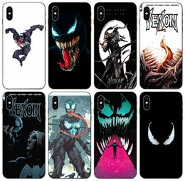 draw tpu case UK - [TongTrade] Venom Adorable Colored Drawing Back Case For iPhone 11 Pro X XS Max 8 7 6s 6p 5s Galaxy J6 Honor 7 Lite LG Q60 High Quality Case