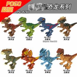$enCountryForm.capitalKeyWord Australia - Dinosaur Figures Jurassic Park Blocks POGO Velociraptor Tyrannosaurus Rex Building Blocks Sets Kids Toys Bricks gift