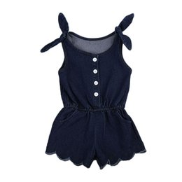 $enCountryForm.capitalKeyWord Australia - New Fashion Sexy Newborn Toddler Kids Baby Girls Clothes Sleeveless Romper Jumpsuit Outfits Denim