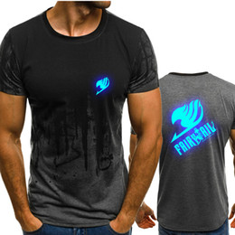 $enCountryForm.capitalKeyWord Australia - Mens O-Neck Anime Fairy Tail Gradient color T Shirt Men Fast compression Breathable Short Sleeve Fitness t-shirt Gyms Tight Tee tops