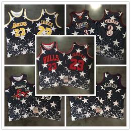 d0130900bd17 2018-2019 Men s jersey Swingman Basketball Jersey 3 Allen Iverson 15 Vince  Carter 23 Michael 23 LeBron James 1 Tracy McGrady