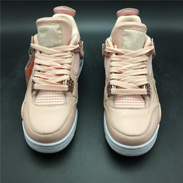 Customs Sneakers NZ - New Custom Men's 4 Pink White Rose Gold Basketball Shoes Style Code 308497-601 Top Quality IV Women's Sport Sneakers Come With Box