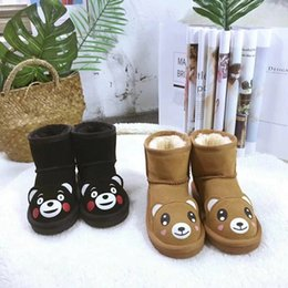 890427622bc HOT Boys and Girls Australia Style WGG Kids mini Snow Boots Waterproof Slip-on  Children Winter Leather Boots EU21-34