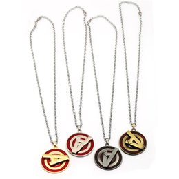 Chains designs online shopping - The Avengers Letter Rotatable Four Colors Design Chains Sign A Necklace Fashion Pendant Metal Fine Work ms O1