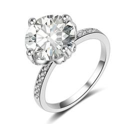 $enCountryForm.capitalKeyWord UK - Fast Free shipping SONA synthetic diamond engagement ring semi mount 18k white gold wedding Diamond ring double layer big diamond ring