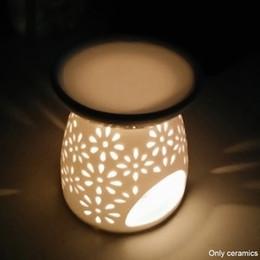$enCountryForm.capitalKeyWord UK - Tea Light Holder Bedroom Office Hollowing Home Candle Furnace Diffuser Ceramic Decoration Aroma Lamp Essential Oil Burner JK0217