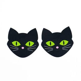 Опт Одноразовые светящиеся кошки, на груди, на груди, сексуальные наклейки на соски, невидимый бюстгальтер, накидки на соски.