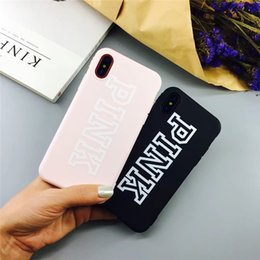 3d Iphone Plus Case Bling Australia - For iphone X XS MAX XR Cell phone Love Pink letter Case Fashion Design Glitter cases 3D Embroidery bling COVER CASES For iPhone X 8 7 6 plus