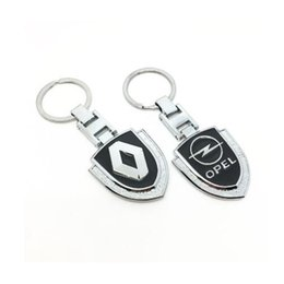 keychain nissan UK - 2019 New 3D Metal Car Key Ring Emblem car Keychain for renault opel audi nissan benz hyundai volkswagen peugeot ford subaru car styling