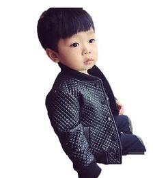 Korean leather jacKet brands online shopping - 2019 new children s clothing men s fashion spring and autumn children s jacket boys shirt PU Korean leather coat black