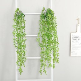 $enCountryForm.capitalKeyWord Canada - Artificial Vines Fake Silk Flower Eucalyptus Hanging Garland Greenery Plant for Wedding Christmas Holiday Home Decor 43.3 Inches